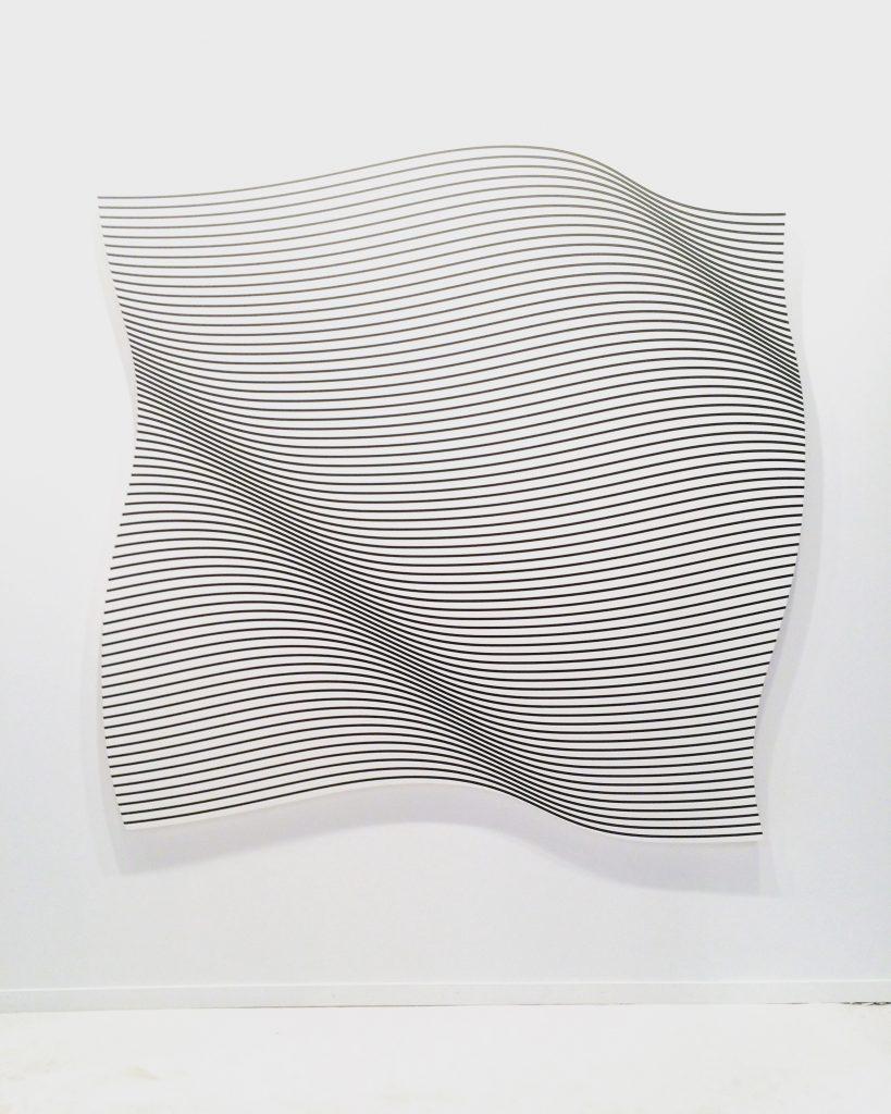Philippe Decrauzat, Flag, 2015.