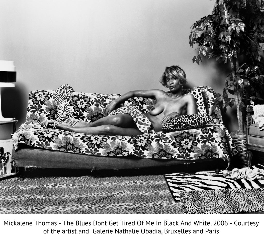 Mickalene Thomas - The Blues Dont Get Tired Of Me In Black And White, 2006 - Courtesy of the artist and Galerie Nathalie Obadia, Bruxelles and Paris