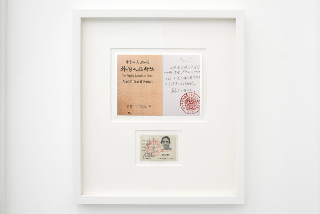 Ulay Alien' Travel Permit and Identity Card, 1988-1995 Photograph and travel permit 46 x 41 cm Courtesy the artist and MOT International London & Brussels.