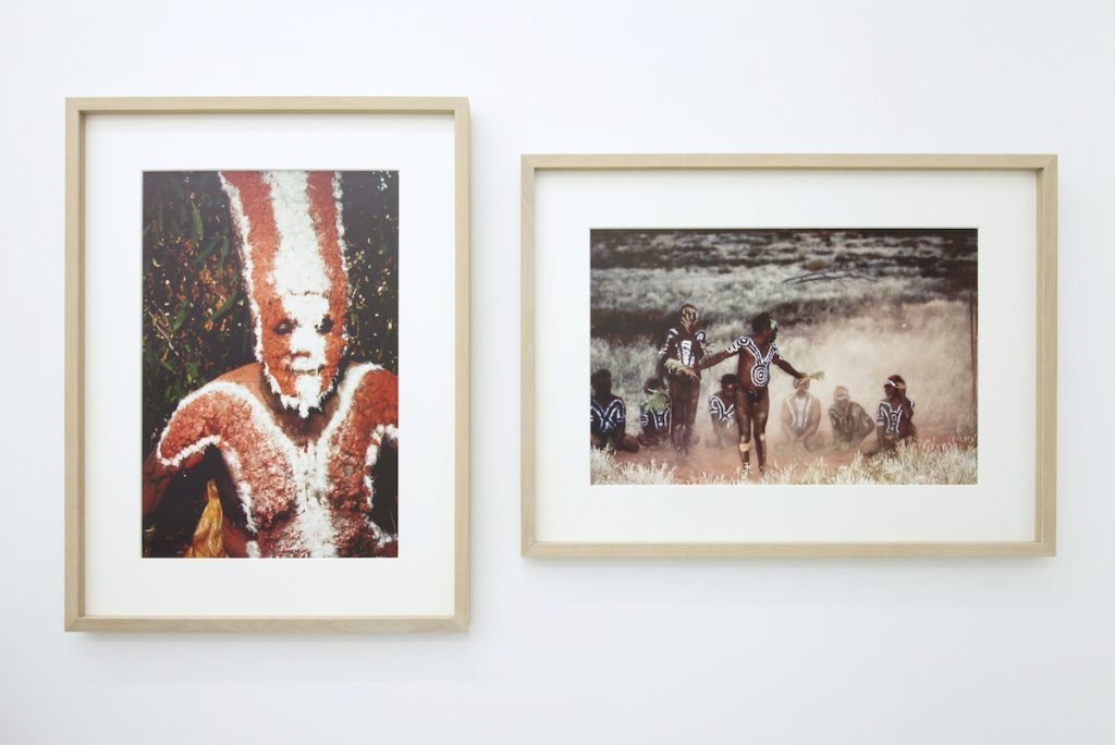 Ulay left: Watuma Australia, 1979 Epson pigment print on Hahnemüle photo rag 81 x 61 cm. right: Australia Aborigines Ceremony, 1979 Epson pigment print on Hahnemüle photo rag 61 x 81 cm.