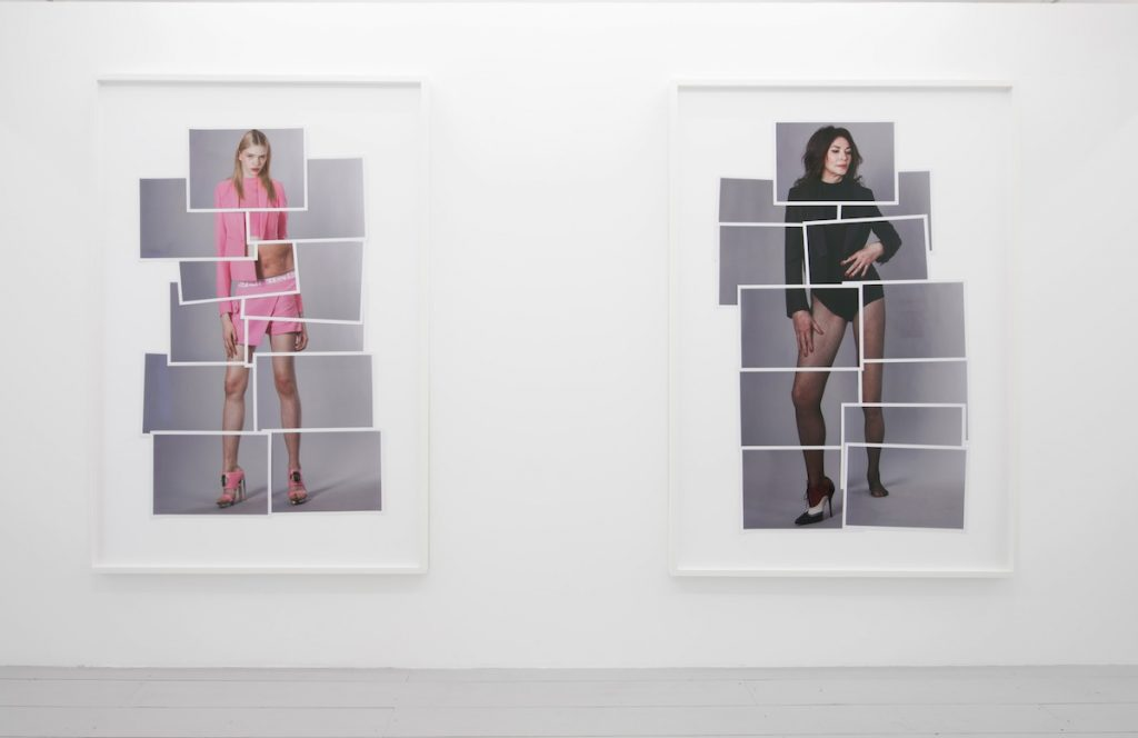 Ulay, left: Stella (Anagramatic Body Series), 2015 right: Iris (Anagramatic Body Series), 2015 Unique hand collaged photography on card 214 x 152 x 5 cm Courtesy the artist and MOT International London & Brussels.