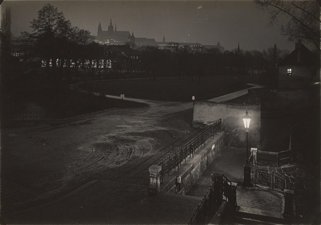Josef Sudek, Prague at Night, 1950–59 gelatin silver print, 12.2 × 17.3 cm National Gallery of Canada. Gift of an anonymous donor, 2010 .© Estate of Josef Sudek.