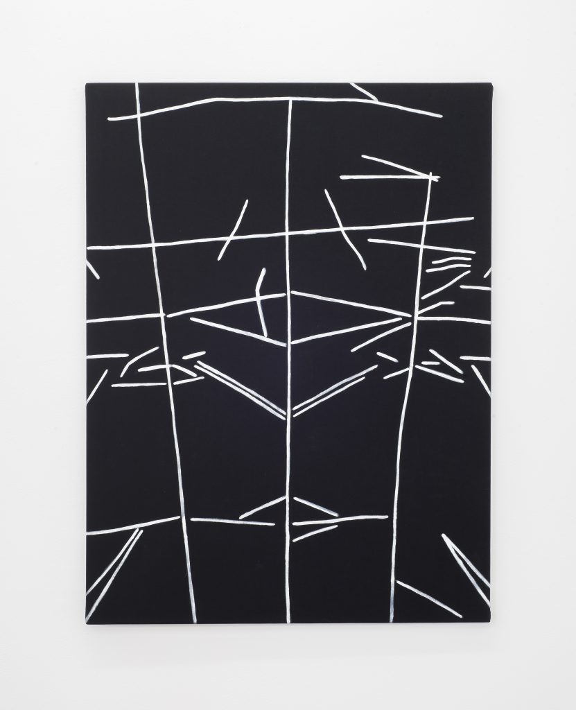 Gerda Scheepers In the fold 2016 Acrylic on fabric 102 x 66 x 1.5 cms / 40 1/8 x 26 x 5/8 ins. Images courtesy the Artist; Mary Mary, Glasgow. Photographer credit: Max Slaven.
