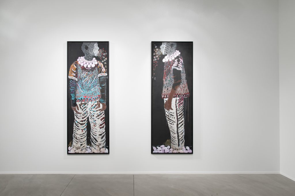 Installation view of Omar Ba Éclosion, at Galerie Daniel Templon Brussels June 2 – July 23, 2016-06 Photography: Isabelle Arthuis Courtesy: Galerie Daniel Templon.