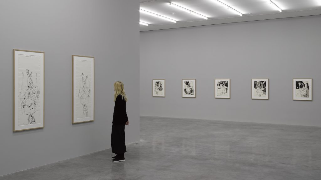 Georg Baselitz 'Wir fahren aus ? We're off', White Cube Bermondsey, London 27 April - 3 July 2016 © 27 April - 3 July 2016 Georg Baselitz Photo: White Cube (Ben Westoby)
