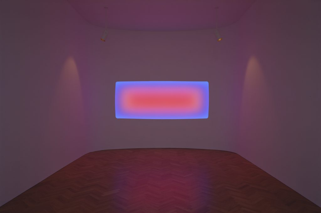 "James Turrell Pelée, 2014 Wide glass 218 cm x 405 cm x 50 cm (85-13/16"" x 159-7/16"" x 19-11/16"") Photograph by: Florian Holzherr."