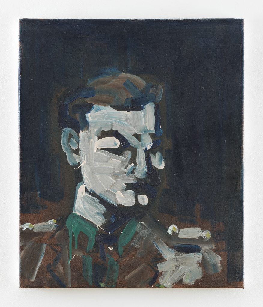 Spike Blake Portrait of an Officer, 2010 Oil on canvas 24 x 20 1/8 x 7/8 inches (61 x 51 x 2 cm) Courtesy the artist and David Zwirner, New York/London.