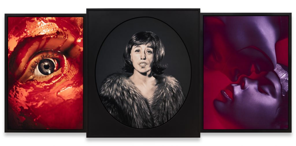 Cindy Sherman Untitled #559, 2015 Three dye sublimation metal prints 120,7 x 266,4 x 5,1 cm (overall dimensions) 47 1/2 x 104 7/8 x 2 inches (overall dimensions)(framed) © Cindy Sherman Courtesy the artist, Metro Pictures and Sprüth Magers Photography: Timo Ohler, 2015.