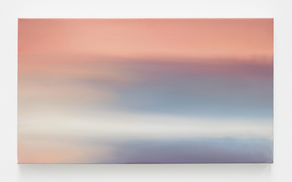 Dan Gratz Cloud Gazer, 2016 Oil on linen 12 x 21 inches (30.5 x 53.3 cm) Courtesy the artist and David Zwirner, New York/London.