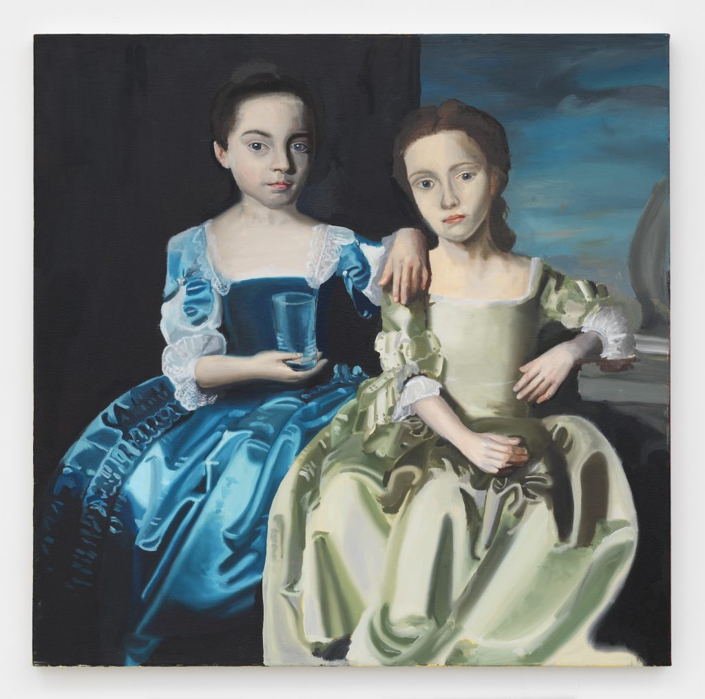 Rebecca Holmberg 2 Girls 1 Cup, 2016 Oil on canvas 37 x 37 x 1 3/8 inches (94 x 94 x 3.5 cm) Courtesy the artist and David Zwirner, New York/London.