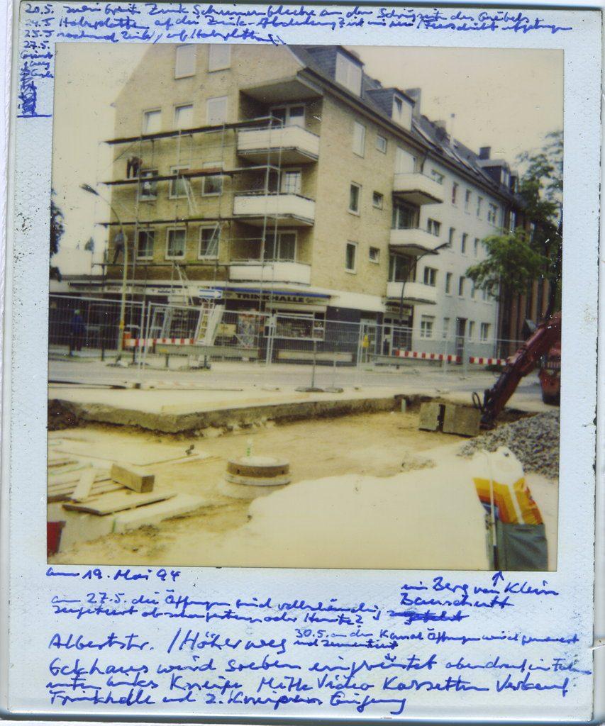 Horst Ademeit, untitled, 19.05.1994, Horst Ademeit, 2590, 20.03.1996, mixed media on Polaroid, 9 x 11 cm. Estate of Horst Ademeit _ Delmes & Zander, Berlin + Cologne.