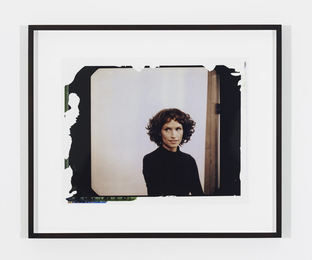 MICKALENE THOMAS Polaroid Series #12, 2016 c-print 20.5 x 26 inches (print) 52.1 x 66 cm 29.5 x 35 x 1.75 inches (framed) 74.9 x 88.9 x 4.4 cm Edition of 3, 2 AP © Mickalene Thomas / Artist Rights Society (ARS), New York. Courtesy the artist and Lehmann Maupin, New York and Hong Kong. Photo: Tony Prikryl.