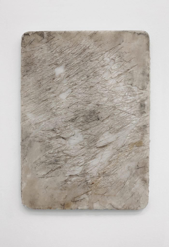 Nicolás Lamas Synthetic Marble (2016) Plastic, cm. 48x34.5x2.5 (in. 18 7/8x13 5/8x1). Courtesy of Brand New Gallery.
