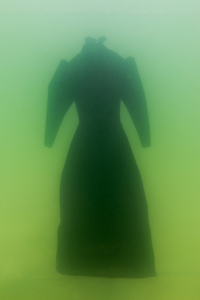1)Sigalit Landau, Salt Crystal Bride Gown I, 2014, Colour Print, 163 x 109 cm, Courtesy the artist and Marlborough Contemporary, London. Photo: Studio Sigalit Landau.