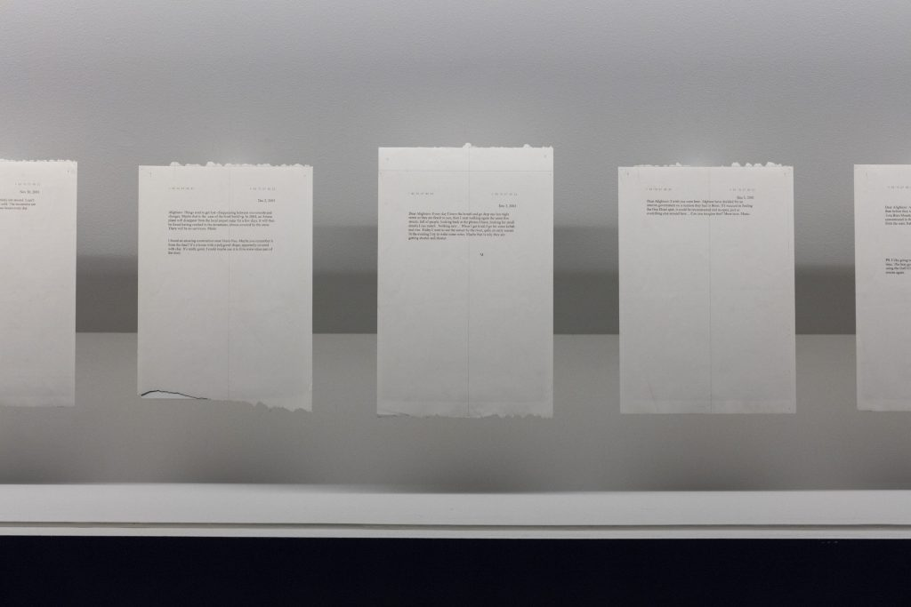 Mario García Torres Shar-e Naw Wanderings (A Film Treatment), 2006, 19 sheets of thermal paper, Dimensions variable Thyssen-Bornemisza Art Contemporary Sammlung/ Collection, Wien/ Vienna.