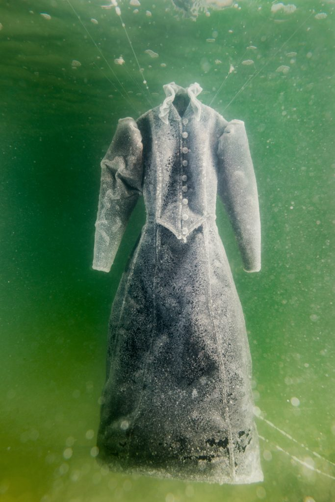 4)Sigalit Landau, Salt Crystal Bride Gown IV, 2014, Colour Print, 163 x 109 cm, Courtesy the artist and Marlborough Contemporary, London. Photo: Studio Sigalit Landau.