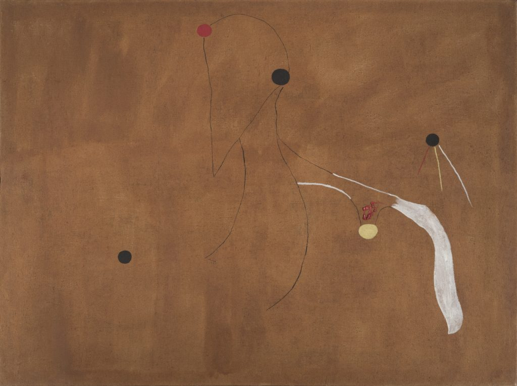 Joan Miró Painting (Birds) 1927 Oil on canvas 97 x 130 cm / 38 1/4 x 51 1/8 in © ProLitteris / ADAGP Courtesy Hauser & Wirth