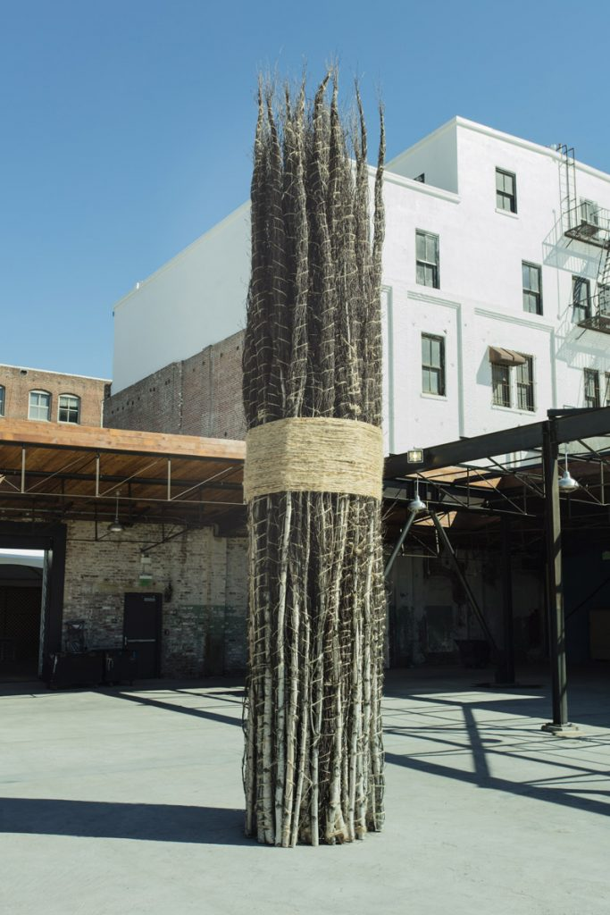 Jackie Winsor, 30 to 1 Bound Trees, 1971 – 1972 / 2016 © Jackie Winsor. Courtesy Paul Cooper Gallery, New York and Hauser & Wirth Installation view, 'Revolution in the Making: Abstract Sculpture by Women, 1947 – 2016', Hauser Wirth & Schimmel, 2016 Courtesy the artist and Hauser & Wirth Photo: Brian Forrest