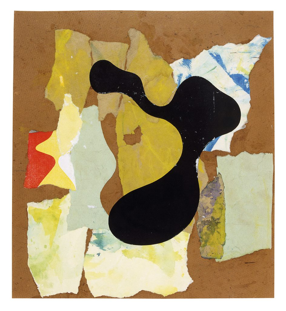 Hans Arp Papier déchiré (Torn Paper) 1947, Torn paper on paper, 39 x 35.5 cm / 15 3/8 x 14 in © Siftung Arp e.V., Berlin / Rolandswerth / 2016, Prolitteris, Zurich Courtesy Hauser & Wirth