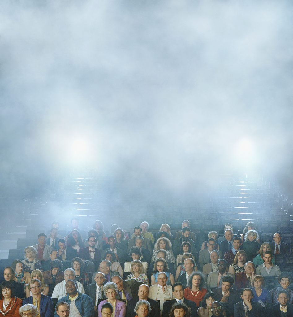 ALEX PRAGER Orchestra Center (Stage), 2016 archival pigment print 52 x 48 inches 132.1 x 121.9 cm Courtesy the artist and Lehmann Maupin, New York and Hong Kong