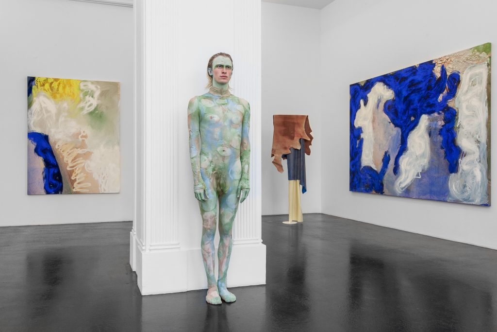 Donna Huanca, 'Surrogate Painteen', Performance view, September 8 - October 28, Peres Projects. Photographer: Matthias Kolb Courtesy Peres Projects, Berlin