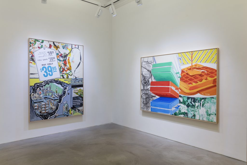 David Salle Lehmann Maupin, Hong Kong September 8 - November 12, 2016 Photo: Kitmin Lee © David Salle, licensed by VAGA, New York. Courtesy the artist and Lehmann Maupin, Hong Kong.