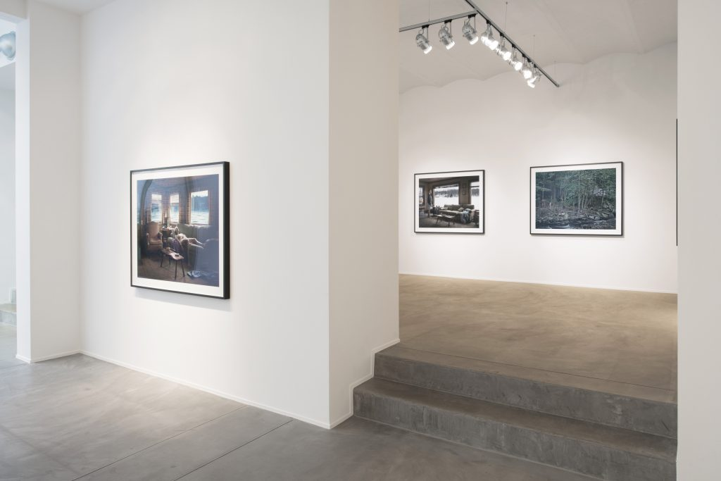 Installation views of Gregory Crewdson's Cathedral of the Pines, at Galerie Daniel Templon Brussels. Photographies: Isabelle Arthuis. Courtesy of the Artist and Galerie Daniel Templon, Paris and Brussels