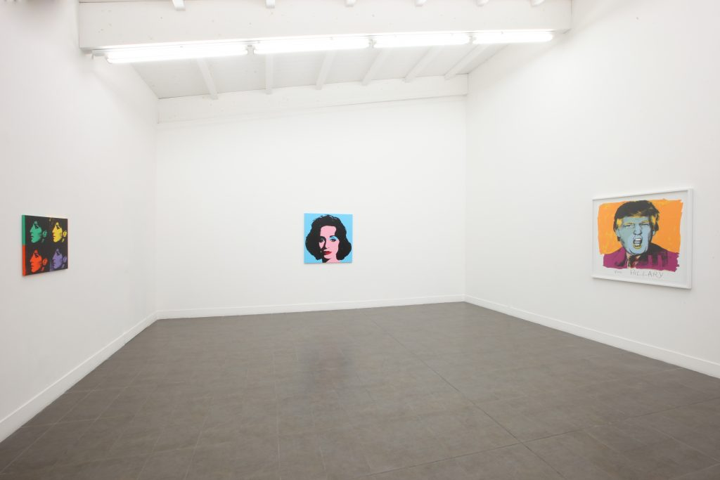 Installation view 'Deborah Kass: Art Histories' at Brand New Gallery. Courtesy of Brand New Gallery.