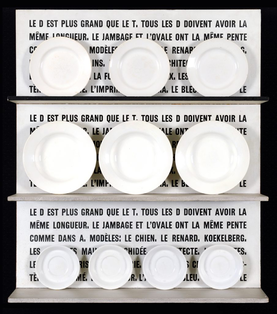 Marcel Broodthaers 'Le D est plus grand que le T'. Courtesy of Albert Baronian.
