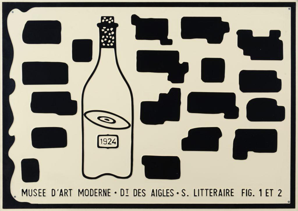 Marcel Broodthaers 'Musée d'Art Moderne Dt des Aigles S. Littéraire Fig. 1 et 2'. Courtesy of Albert Baronian.