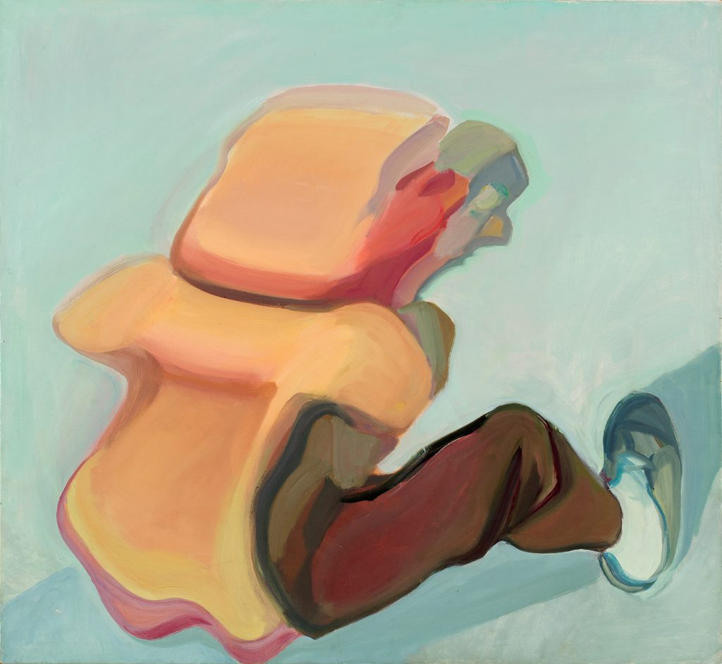 "Die Beute, 1972 Oil on canvas, 47.24 x 51.18 inches, 120 x 130 cm, on back ""M. Lassnig 1972"". © Maria Lassnig Foundation, photo: Roland Krauss."