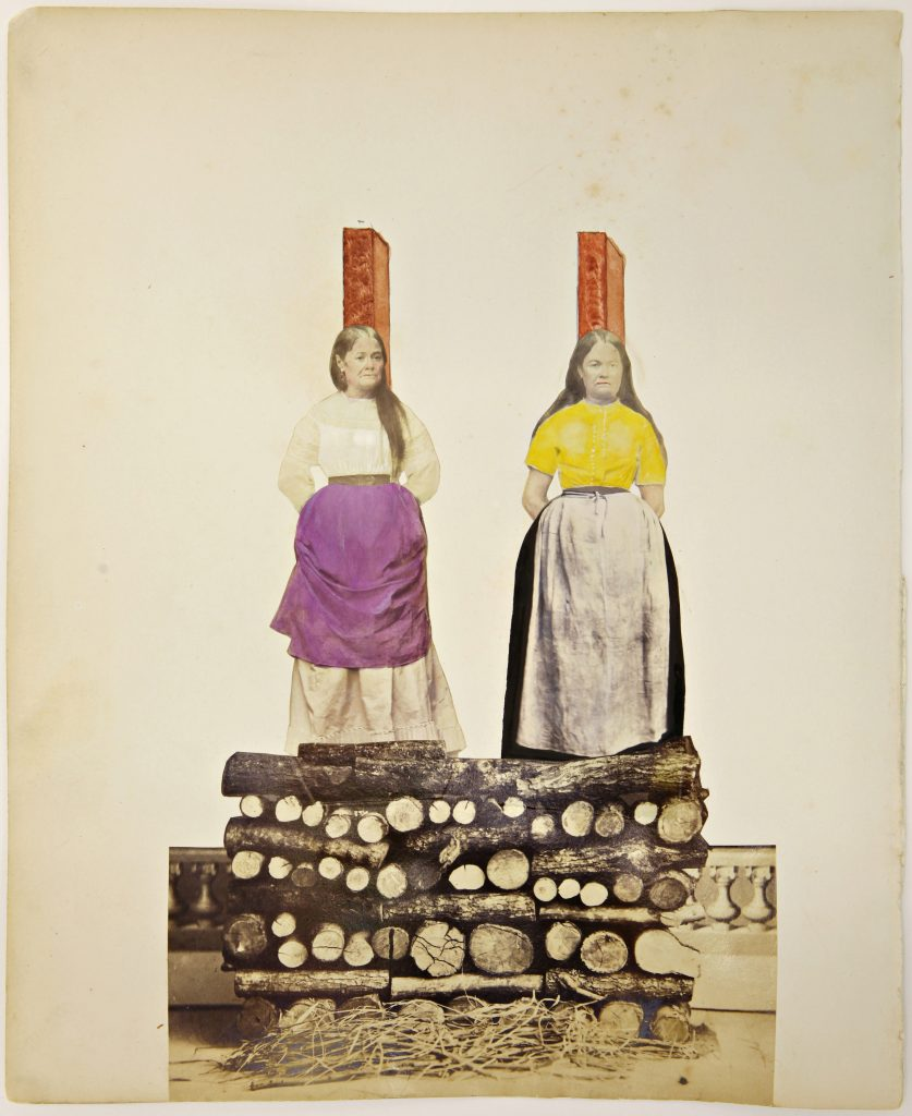 Obsession untitled, ca. 1870 (O/MaF 018), collage, photography, mixed media 29 x 24 cm, Courtesy Delmes & Zander, Berlin + Cologne