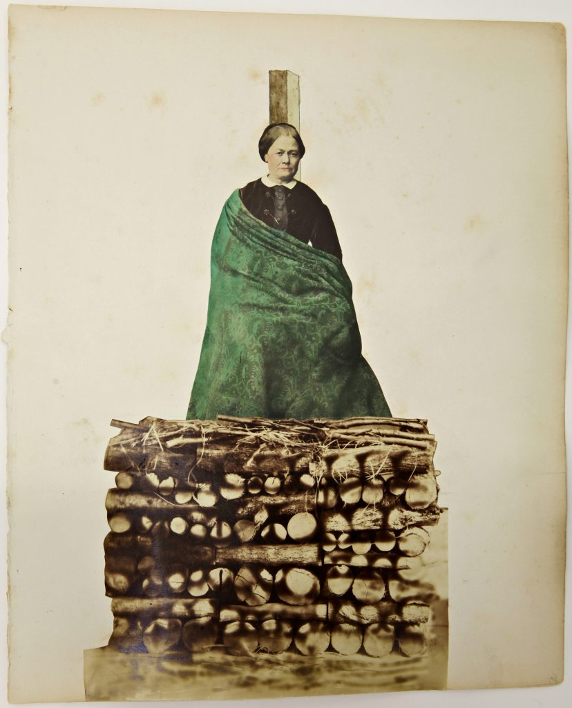 Obsession untitled, ca. 1870 collage, photography, mixed media, 29 x 24 cm Courtesy Delmes & Zander, Berlin + Cologne