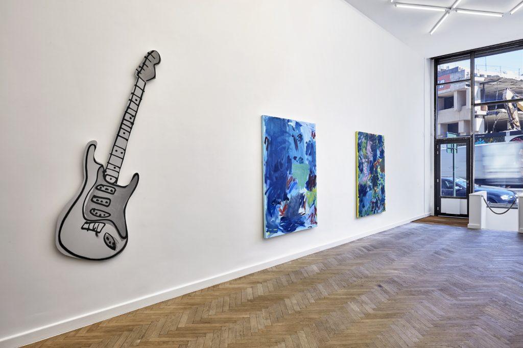 Installation view Sadie Laska: Rock Solid Office Baroque, Brussels, 2016