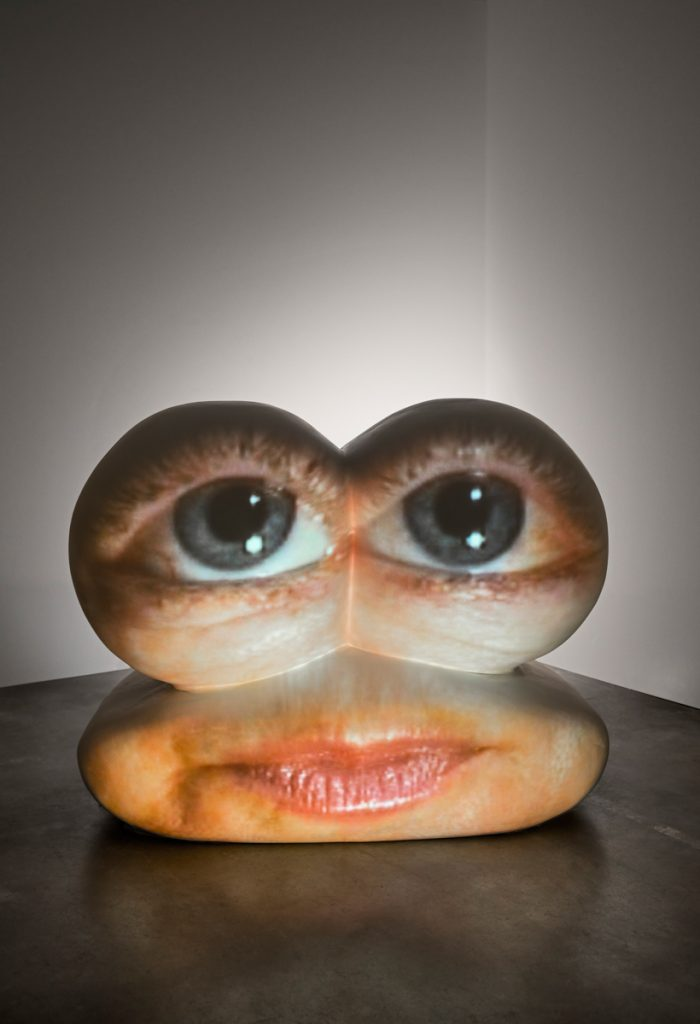 "Tony Oursler, ""Caricature"", 2002. Collection Magasin III. Photo: Jean-Baptiste Béranger."