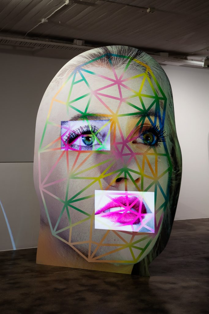 "Tony Oursler, ""Fa\p0s"", 2016. Courtesy the artist. Photo: Christian Saltas."