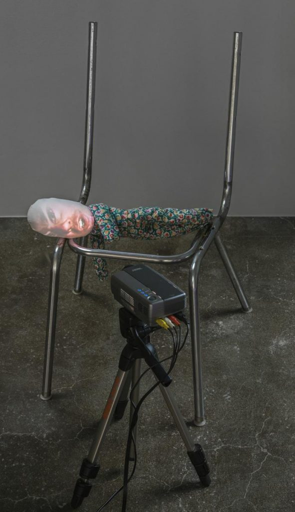 "Tony Oursler, ""The Code"", 1996. Collection Magasin III. Photo: Jean-Baptiste Béranger"
