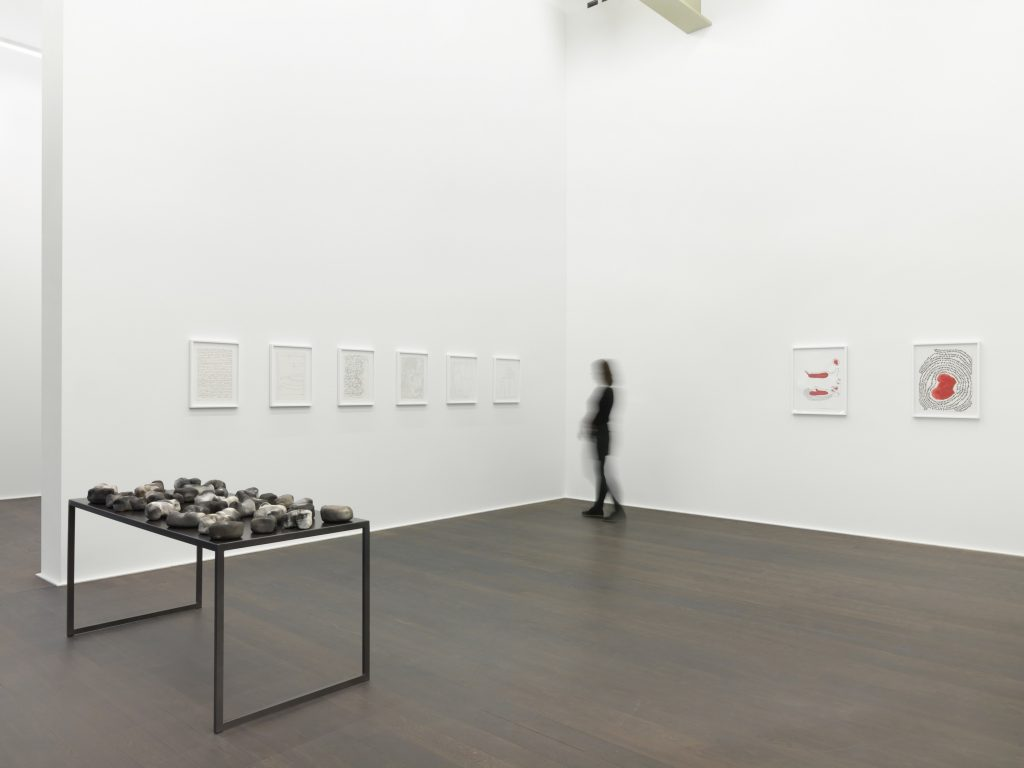 Installation view, 'Anna Maria Maiolino. TUDO ISSO (ALL THAT)', Hauser & Wirth Zürich, 2016 © Anna Maria Maiolino Courtesy the artist and Hauser & Wirth