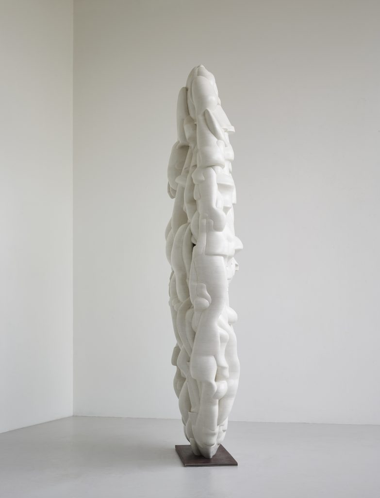 Tony Cragg Sail II, 2016 Wood 280 x 149 x 55 cm 110 1/4 x 58 5/8 x 21 5/8 in © Tony Cragg; Courtesy Lisson Gallery