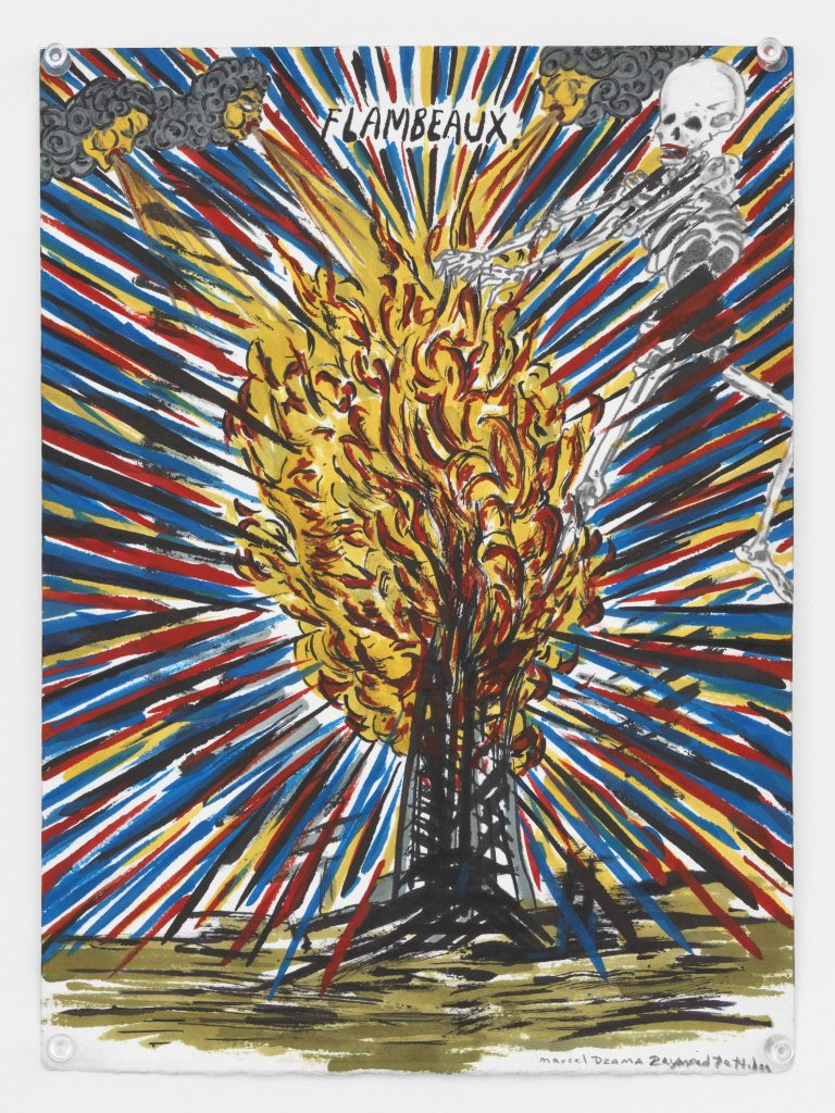 'Flambeaux', 2016 Pencil, ink, watercolor, gouache, and acrylic on paper 11 7/8 x 8 3/4 inches (30.2 x 22.2 cm) Courtesy David Zwirner, New York/London