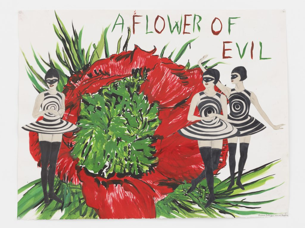 'A flower of evil', 2016 Pencil, ink, watercolor, and acrylic on paper 29 1/2 x 38 1/4 inches (74.9 x 97.2 cm) Courtesy David Zwirner, New York/London