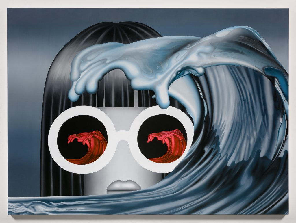 Emily Mae Smith 'Rogue Wave', 2016 Oil on linen, 182.9 x 248.9 cm, 72 x 98 in.  Courtesy of the artist and rodolphe janssen, Brussels Photo credit: Charles Benton