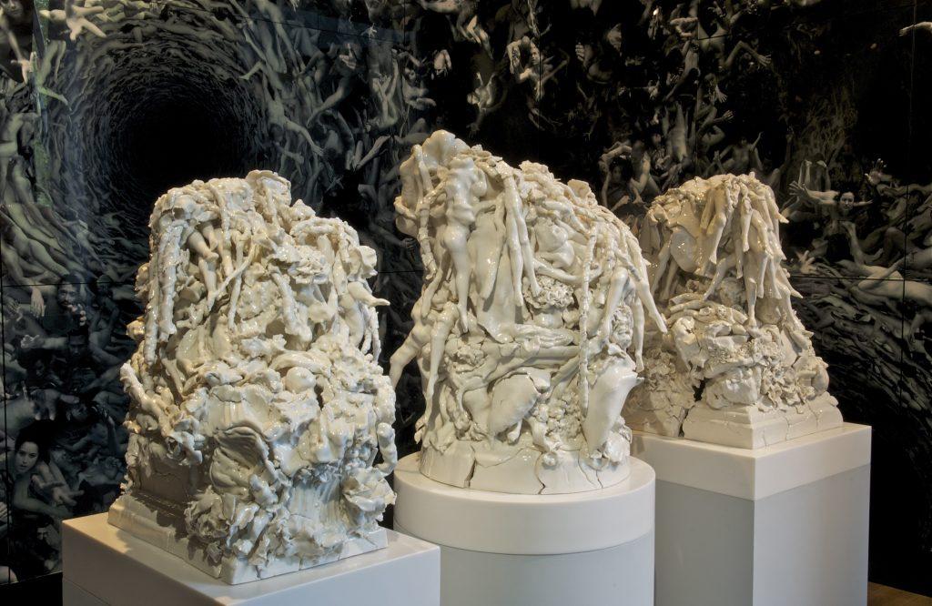 Angelo Musco 'Tehom', 2010, Rachel Kneebone 'Remember that we...' 2014. Courtesy Maison Particulière
