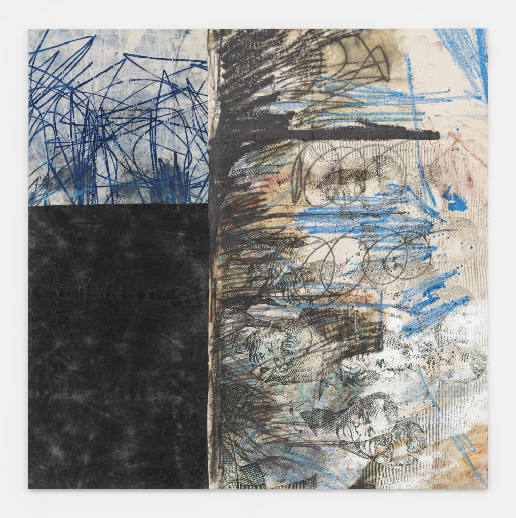 Untitled, 2015-2016 Oil, oil stick, and graphite on canvas and linen 82 3/4 x 82 3/4 inches (210 x 210 cm) Courtesy the artist and David Zwirner, New York/London