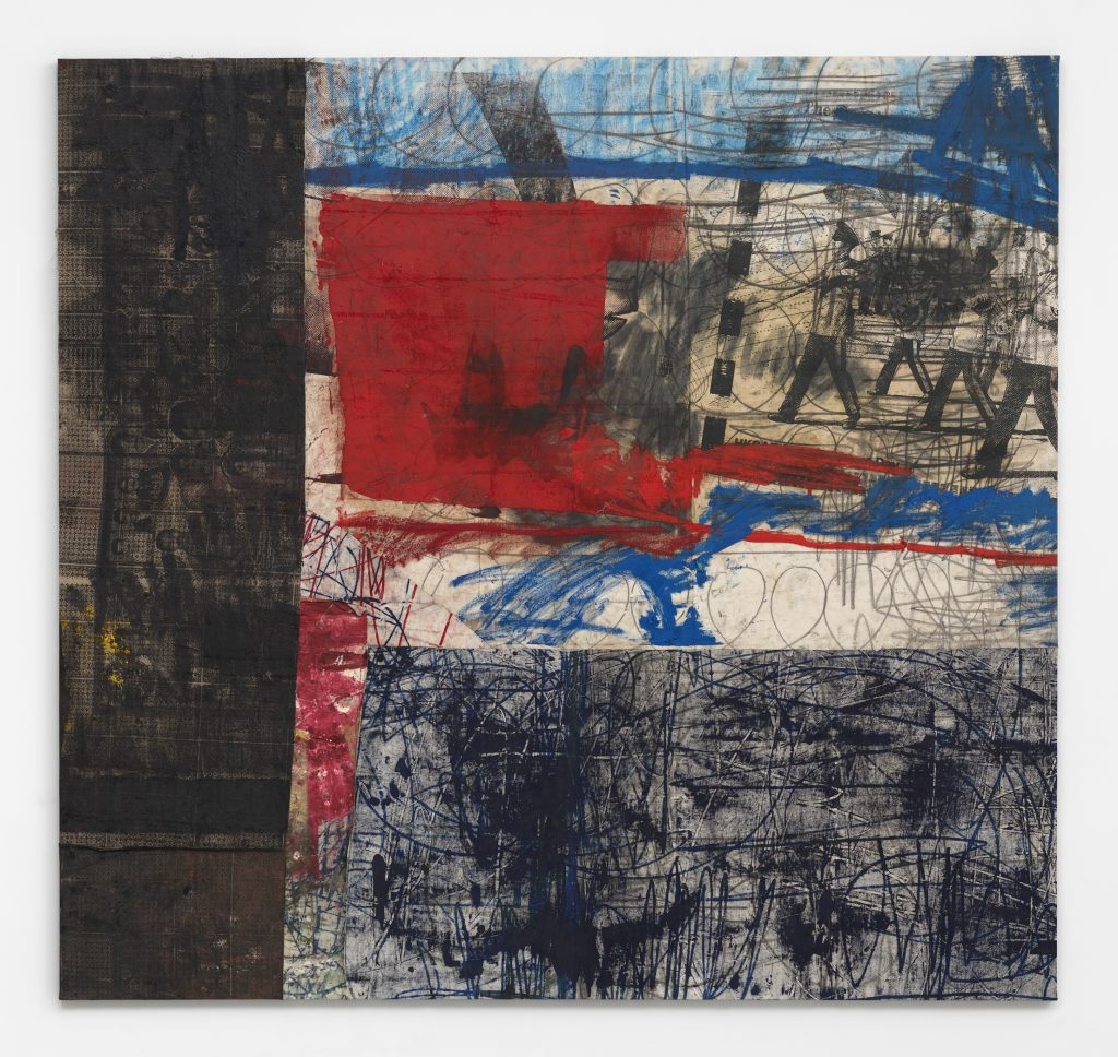 HK-pig KE 908, 2015-2016 Oil, oil stick, and graphite on canvas and linen 100 1/4 x 106 1/8 inches (254.6 x 269.6 cm) Courtesy the artist and David Zwirner, New York/London