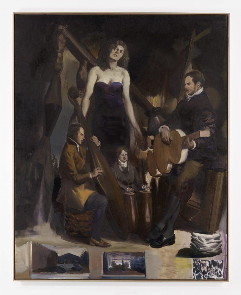 Tief im Holz, 2016 Oil on canvas 98 1/2 x 78 3/4 inches (250 x 200 cm) Courtesy David Zwirner, New York/London