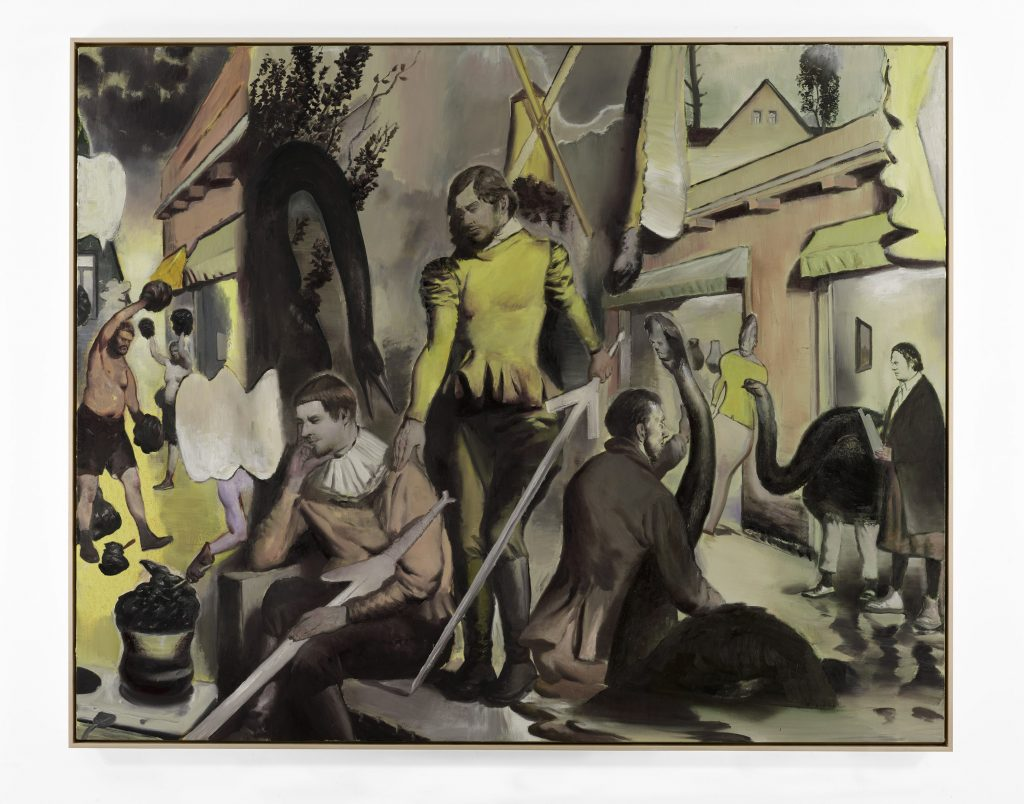 Die Forderung, 2016 Oil on canvas 78 3/4 x 98 1/2 inches (200 x 250 cm) Courtesy David Zwirner, New York/London
