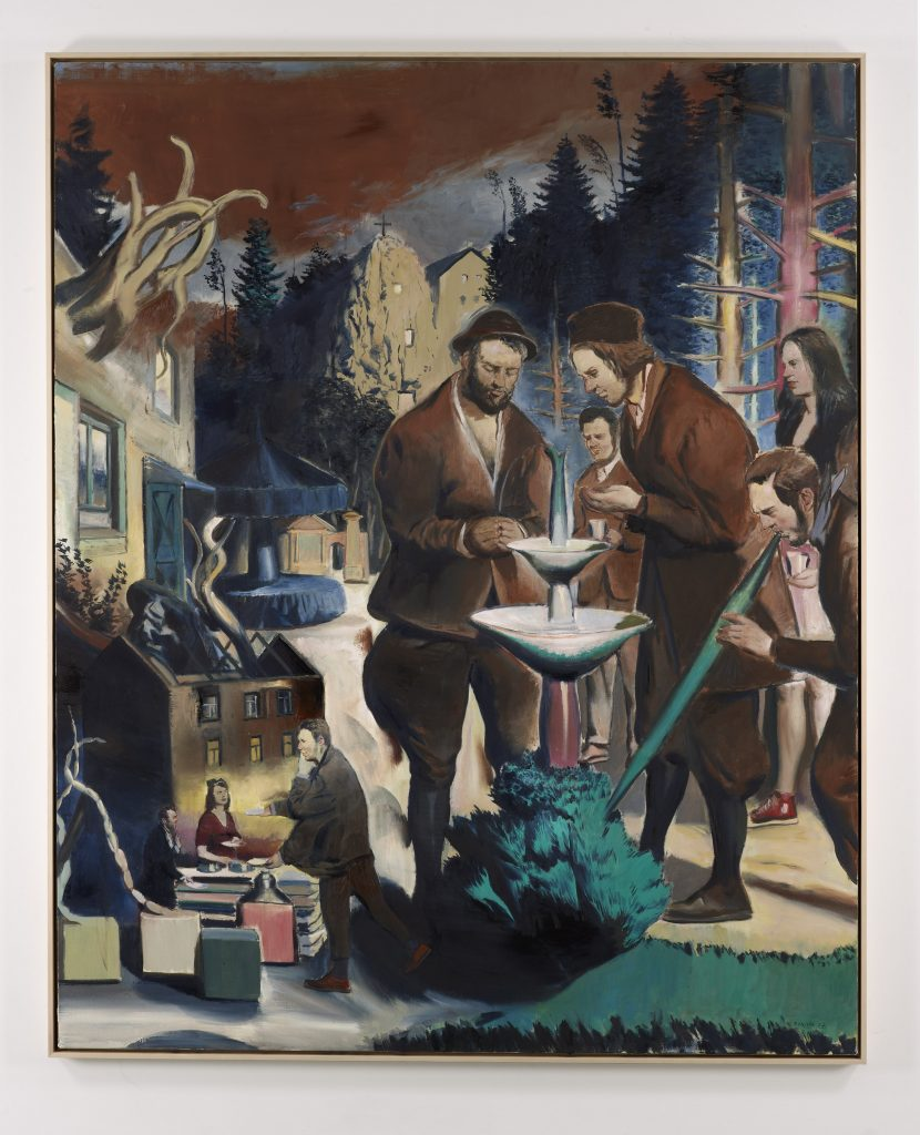 Die Kur, 2016 Oil on canvas 98 1/2 x 78 3/4 inches (250 x 200 cm) Courtesy David Zwirner, New York/London