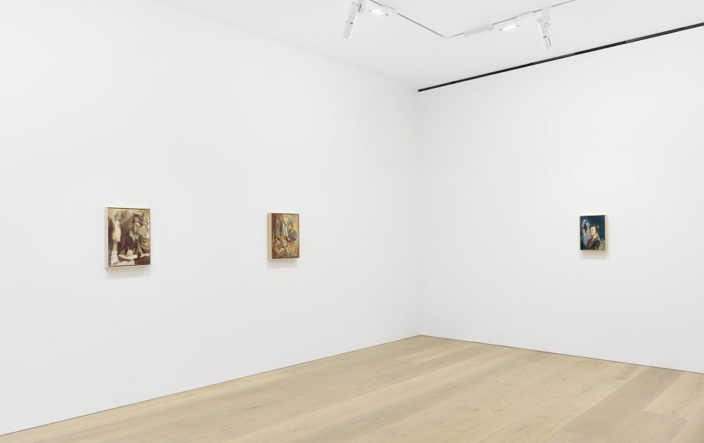 Installation view of Neo Rauch's 'Rondo' at David Zwirner London, October 5 – November 12, 2016.