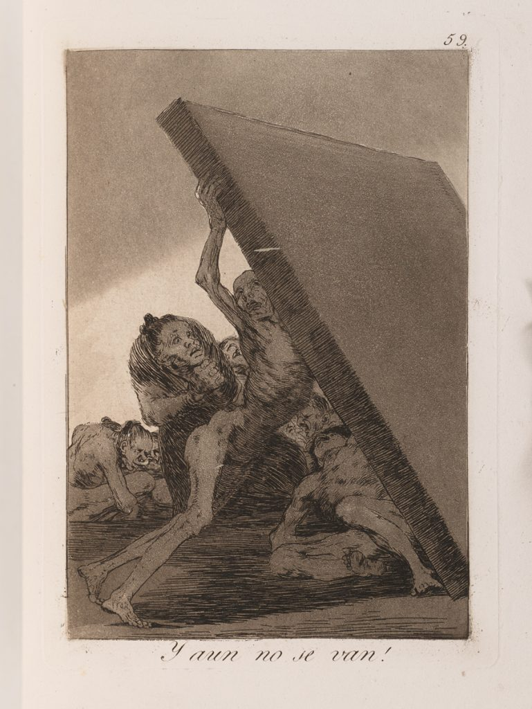 Francisco de GOYA, Los Caprichos, 1799 Eau-forte, aquatinte et burin, 2e édition de 1855. Collection Sylvie et Georges Helft. Photo : Jean de Calan